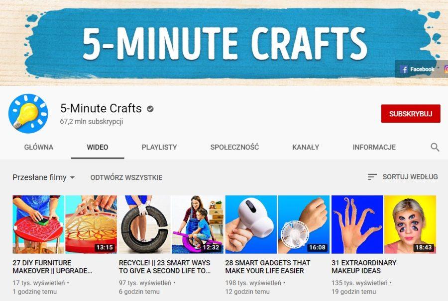 5-Minute Crafts grafika
