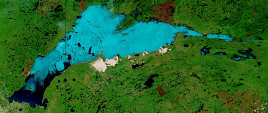 Jezioro Athabaska grafika