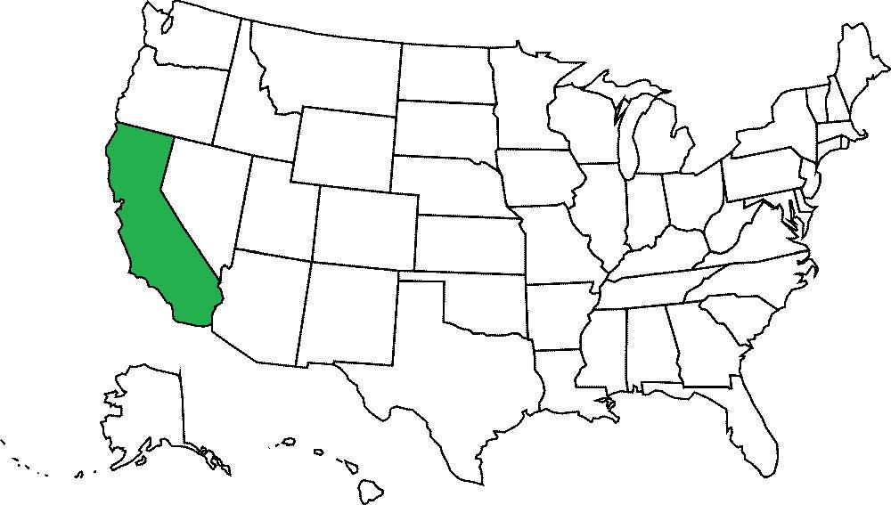 10 największych amerykańskich stanów (ludność)