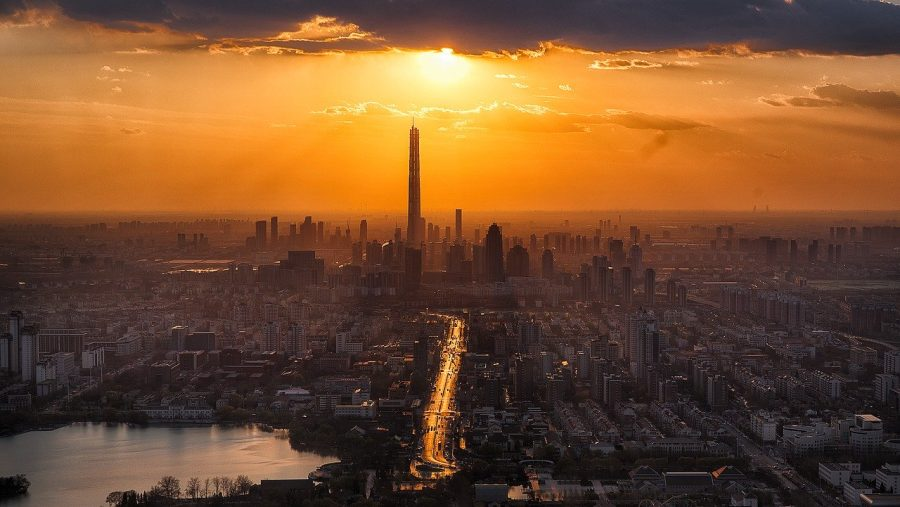 China 117 Tower grafika