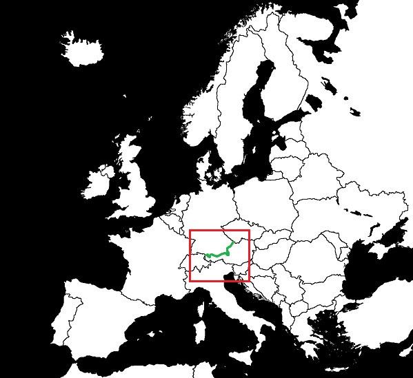 Granica Austrii z Niemcami grafika