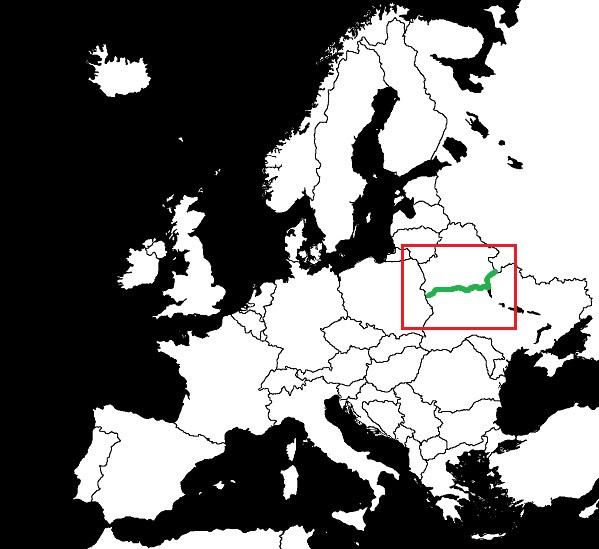 Granica Białorusi z Ukrainą grafika
