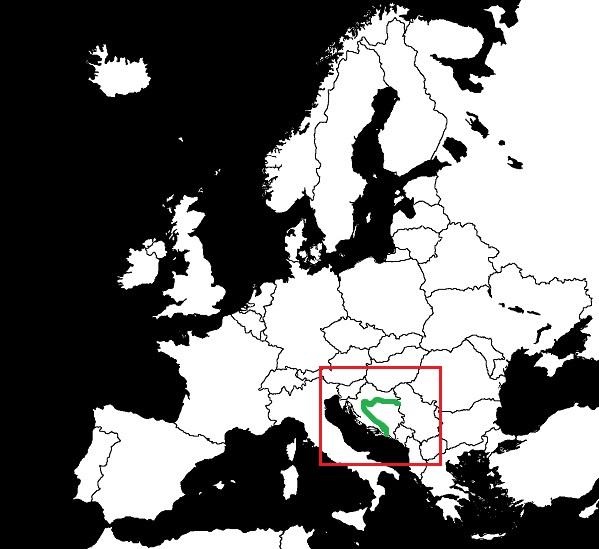Granica Bośnii i Hercegowiny z Chorwacją grafika