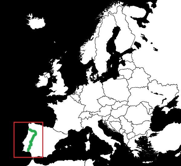 Granica Hiszpanii z Portugalią grafika