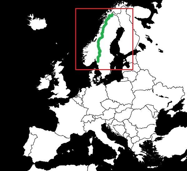 Granica Norwegii ze Szwecją  grafika