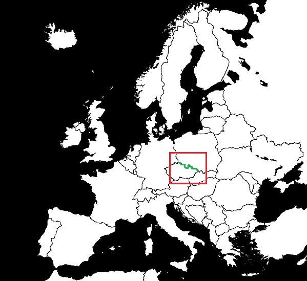 Granica Polski z Czechami grafika