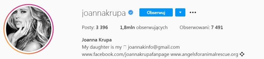 Joanna Krupa grafika