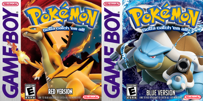 Pokémon Red and Blue grafika