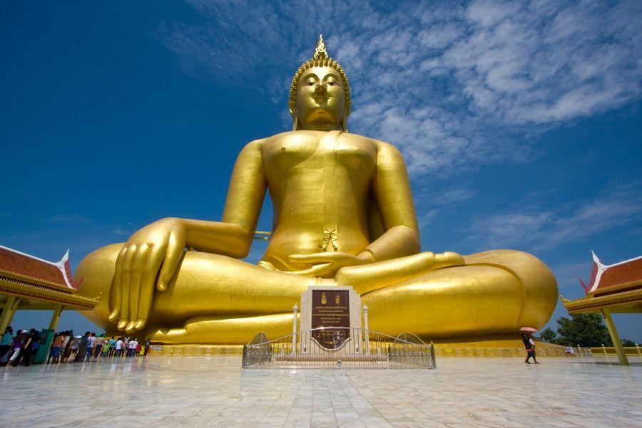 Wielki Budda z Tajlandii grafika