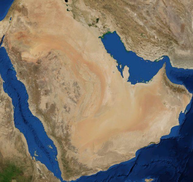 Pustynia Arabska grafika
