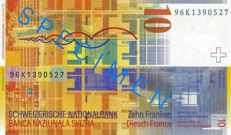 Frank szwajcarski grafika